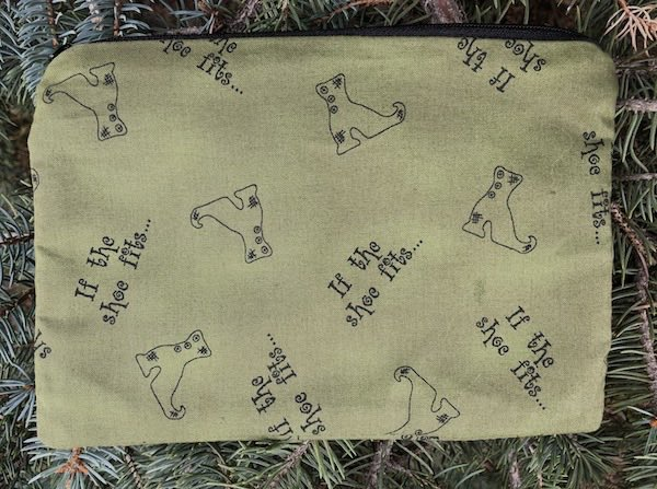 witches shoes zippered bag
