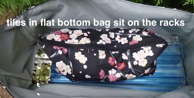 tote for Mahjongg racks and zippered bag for tiles