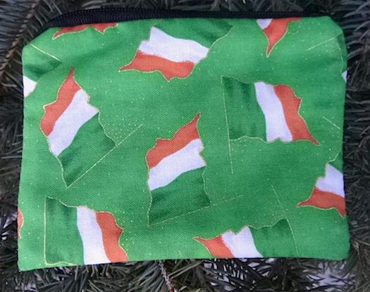 Irish flags coin purse