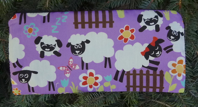 """sheep pouch for 8"""" knitting needles"""