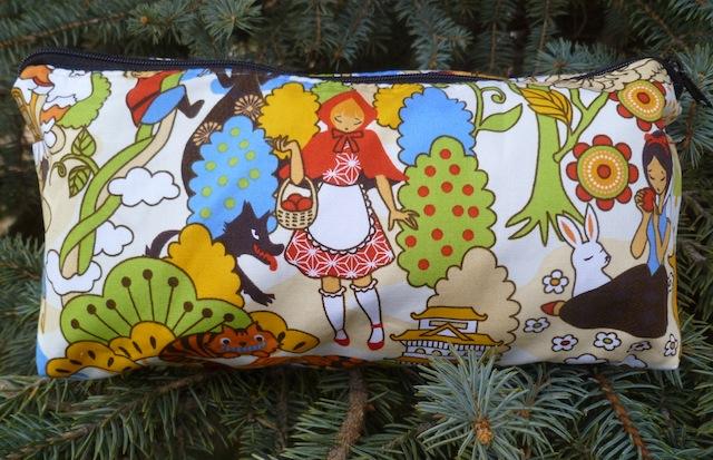 kawaii fairy tales flat bottom cosmetic case