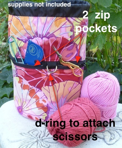 sock knitting bag