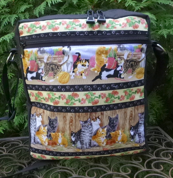shoulder cross body bag with cats