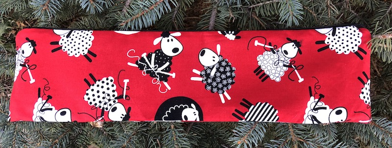 custom knitting needle pouch