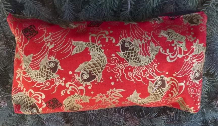 large flat bottom zippered bag for mah jongg tiles