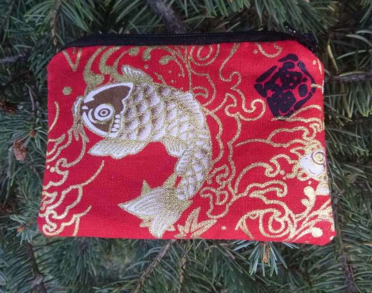 Japanese koi coin purse