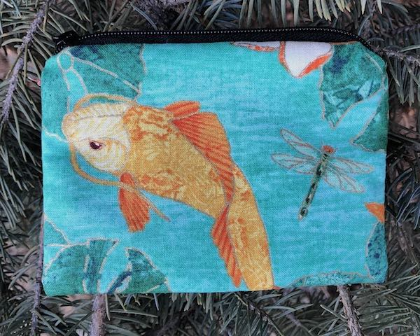 Koi pond coin purse