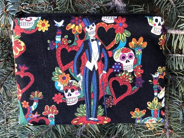 Day of the Dead zippered bag
