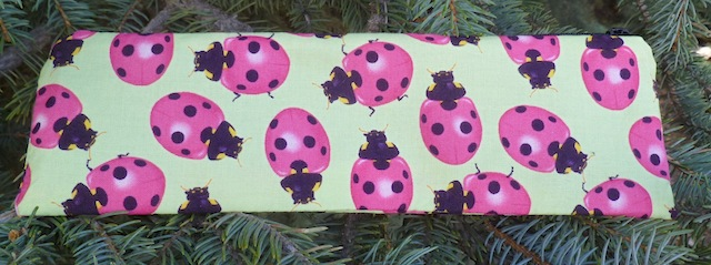 ladybugs zippered pouch for knitting needles or chopsticks