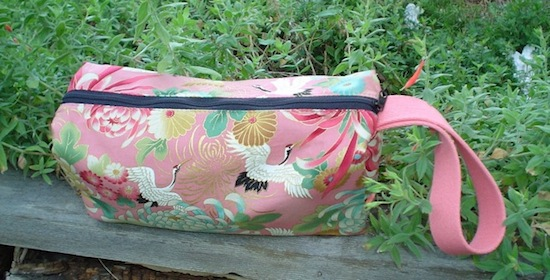 boxy knitting bag, cosmetic case, toiletry case