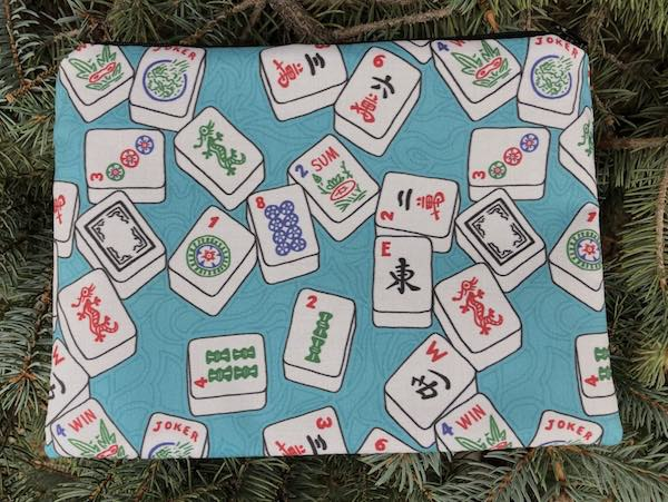 Mahjong tiles pouch for mahjong card and coins