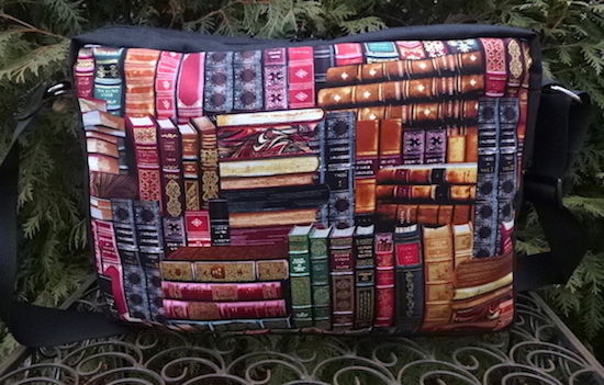 books zippered tote bag