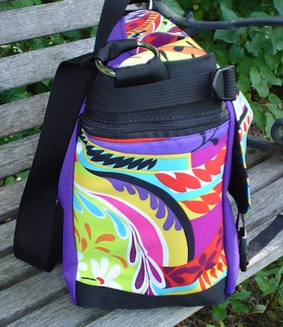 messenger bag with zippered side pocket