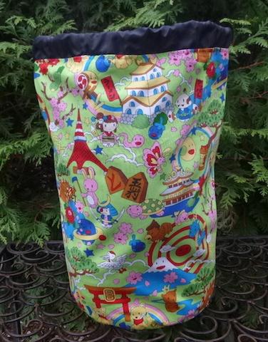 kawaii knitting project bag
