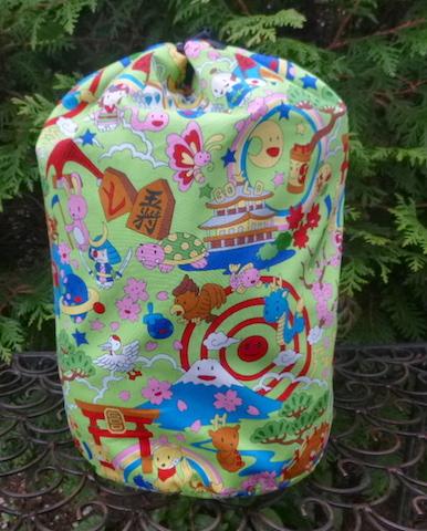 Kawaii drawstring knitting project bag