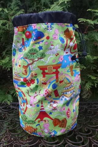 large kawaii drawstring knitting bag