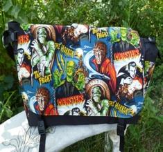 movie monsters large messenger bag