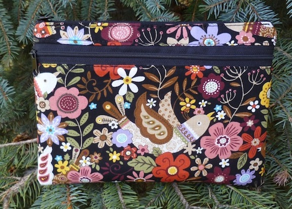 large clutch, stylish diabetic supply case,  boutique style diabetic supply case