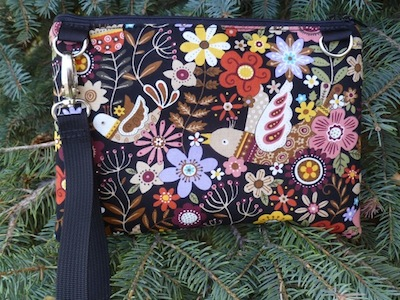 large clutch with wristlet strap
