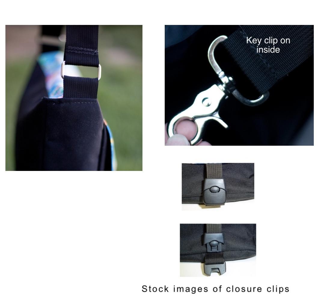 Zoe's Bag Boutique messenger bag with removable flap