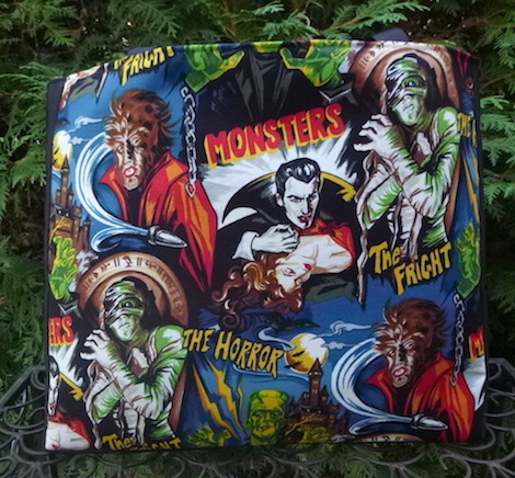 movie monsters tote bag for knitting