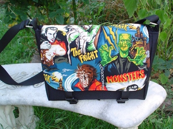 movie monsters mini messenger cross body bag