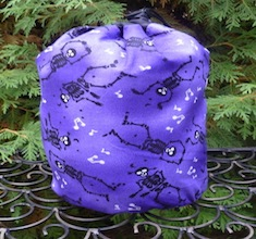 skeleton rummikub drawstring bag