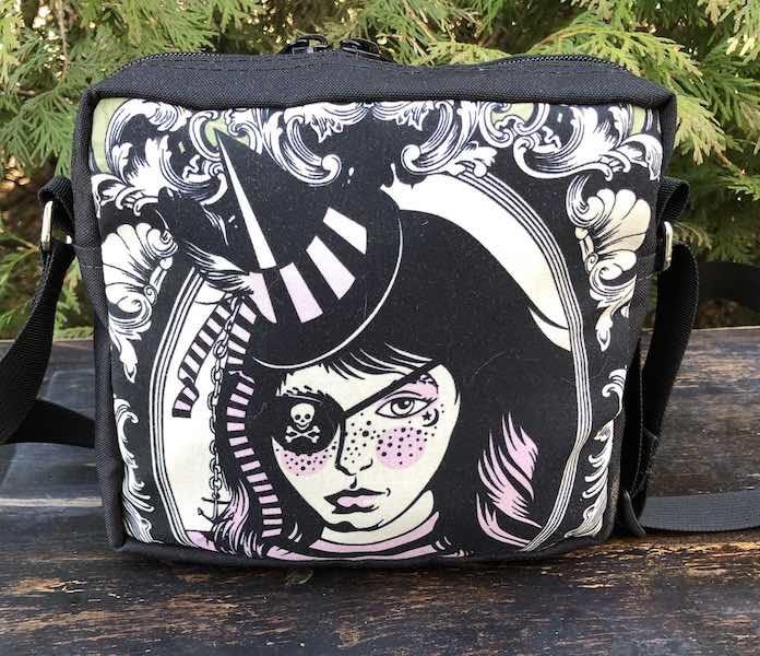 Neptunia Von Black Tula Pink's Nightshade witch shoulder hipter bag
