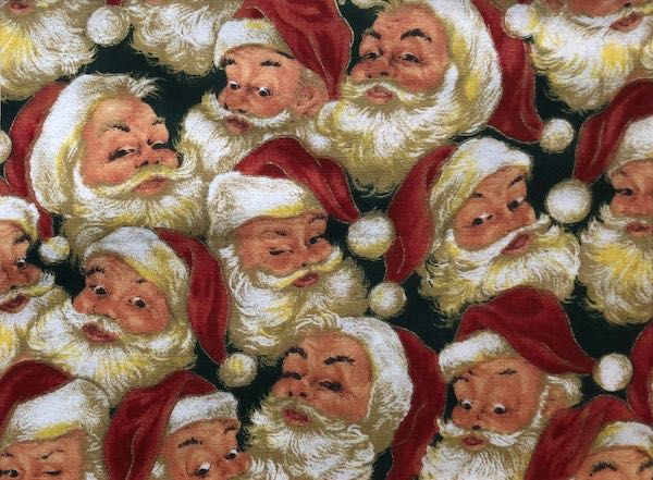 Old time Santas adjustable face mask by Zoe's Bag Boutique