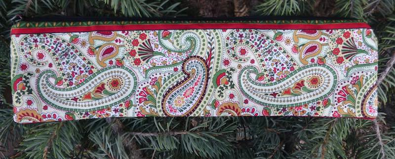 paisley case for paper straws or reusable straws