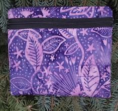 purple batik diabetic supply case