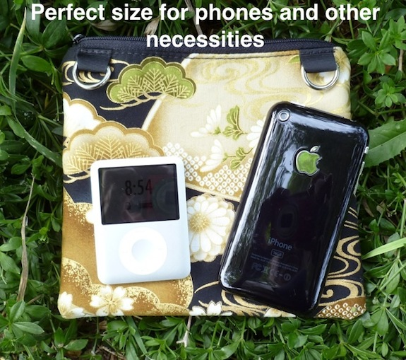 Iphone purse with removable shoulder strap