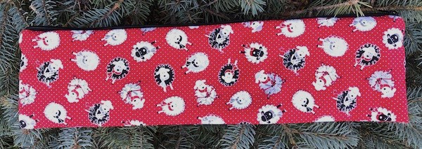 """Knitting sheep zippered pouch for knitting needles up to 14"""""""