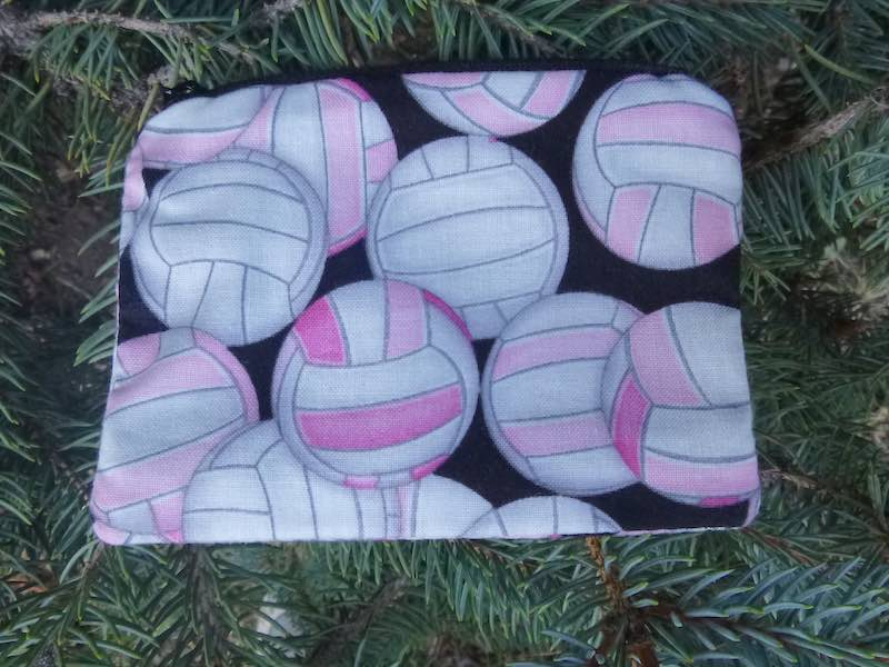 pink volleyballs coin purse