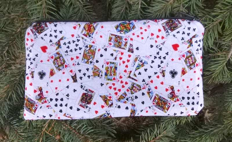 deep pencil case for canasta bridge or pocker players