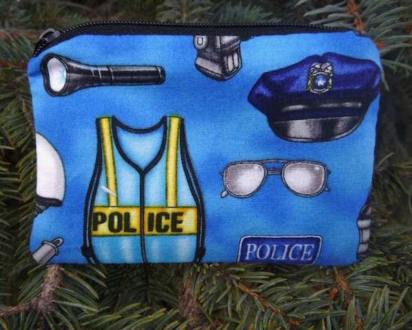 police equipment coin purse