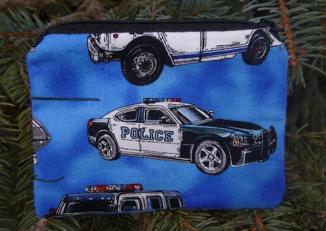 police car coin purse