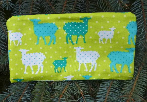 polka dot sheep pencil case