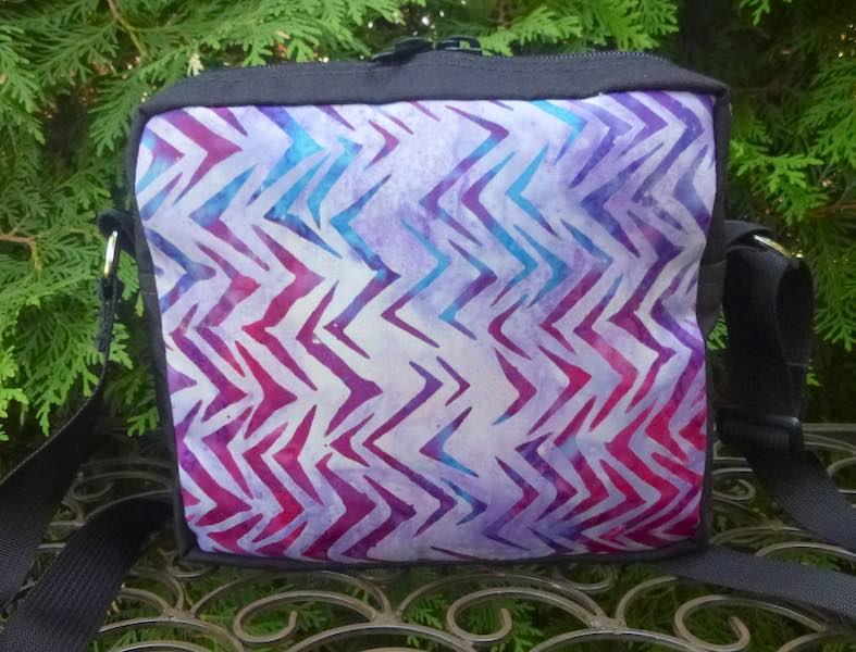 purple batik hipster shoulder bag