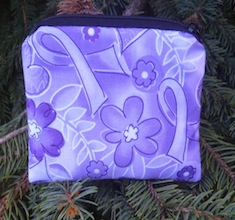purple ribbons coin purse