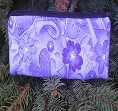 purple ribbons pencil case