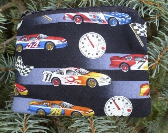 race car coin purse