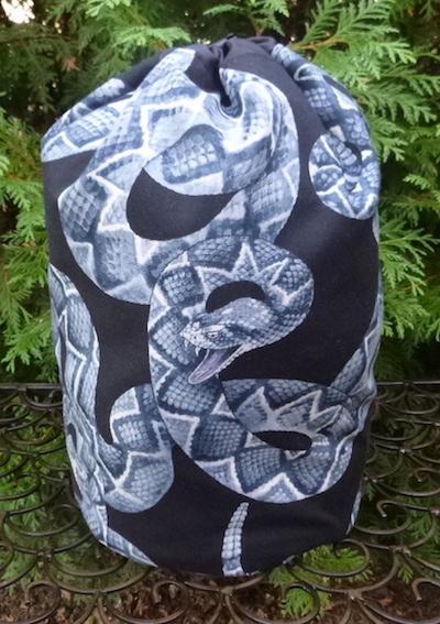 rattlesnake drawstring bag