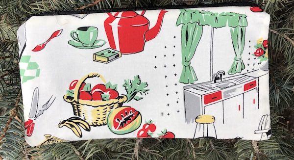 Michael Miller retro kitchen zippered case