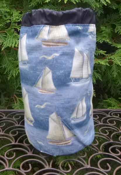 yachts knitting bag