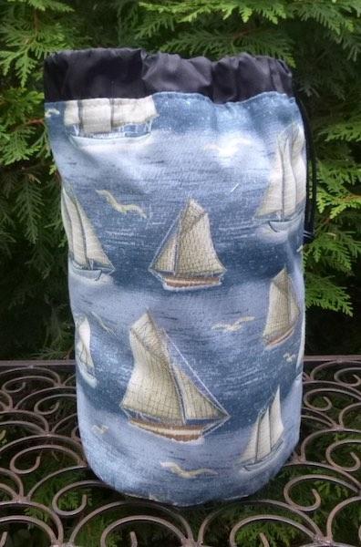 yachts drawstring bag
