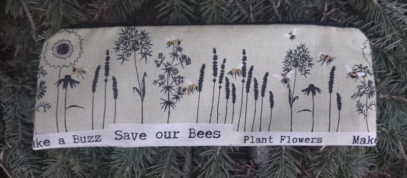 Save our bees pencil case
