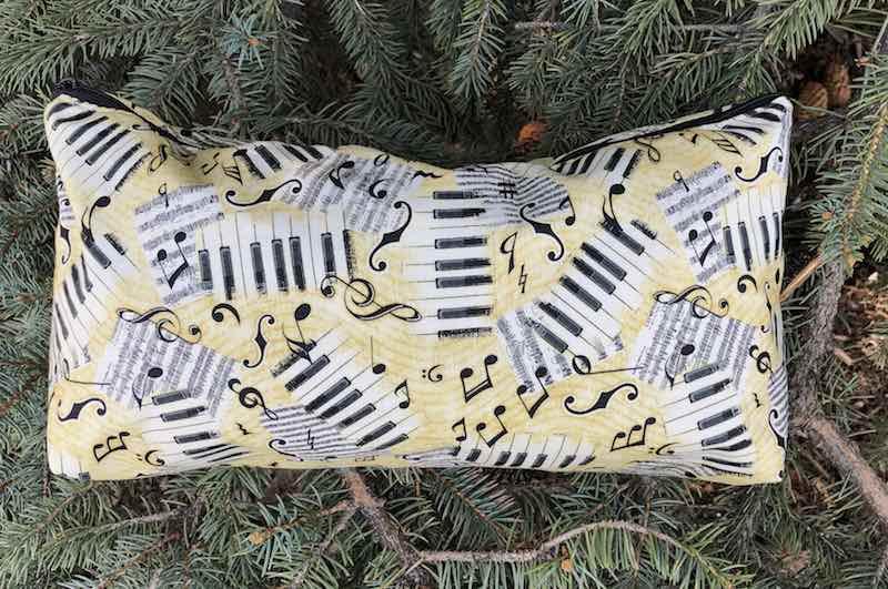 Music flat bottom bag for mahjong tiles knitting craft supplies
