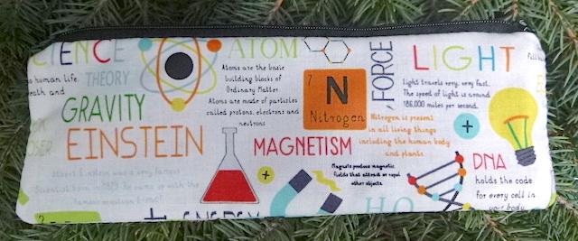 science pencil case