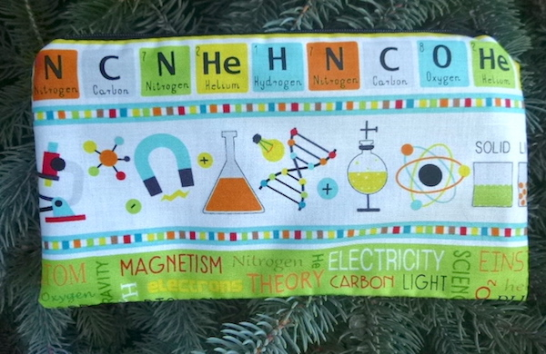 Science terms pencil case